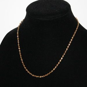 """Stunning vintage gold chain necklace 17"""""""